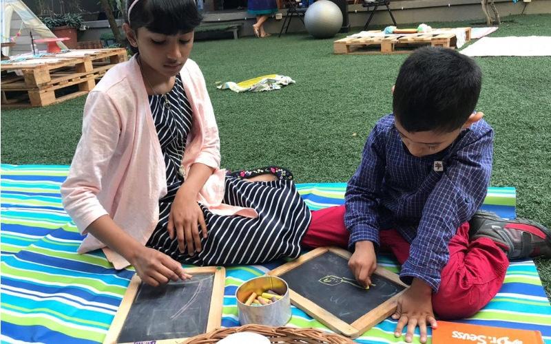 Chalk Board Game at Birthday