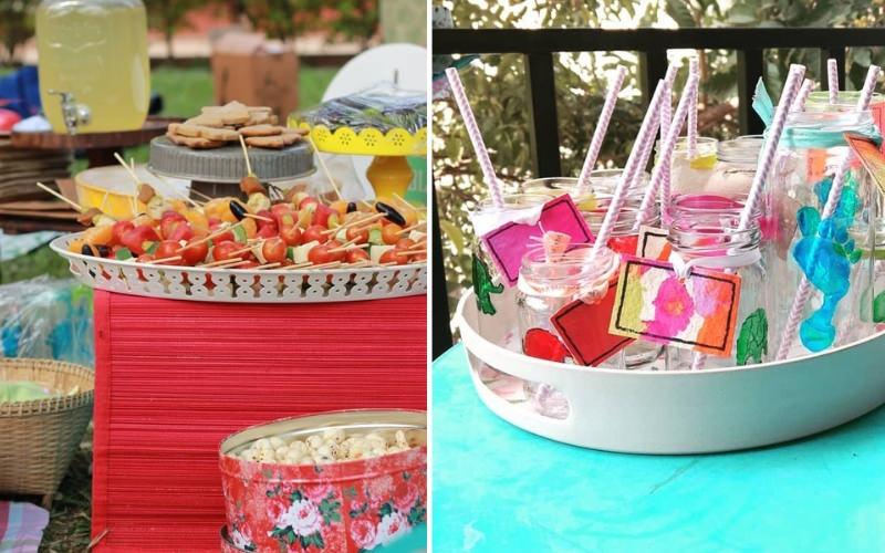 Non Plastic Tableware and Healthy Birthday Treats