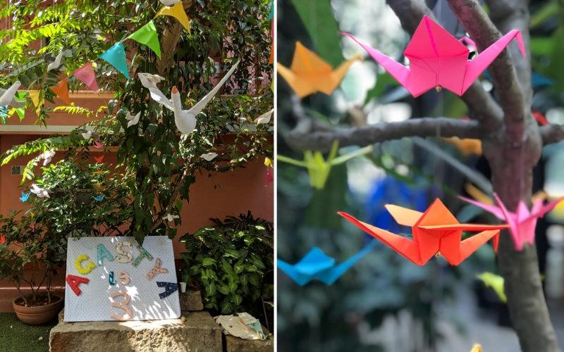 Eco-friendly birthday party decoration