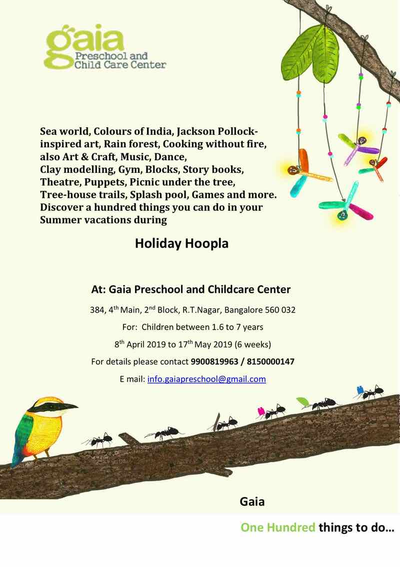 Gaia Preschool Holiday Hoopla 2019 Cover Image