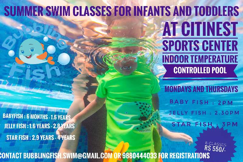 Bubbling Fish Infant Toddler Swimming Camp 2019 Cover Image