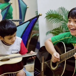 Kids Guitar Classes at Trill Route Music Academy