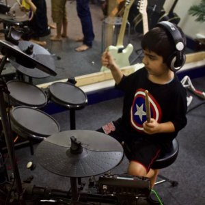 Drumming Class at Trill Route Music Academy