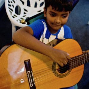 Little Guitarist at Trill Route Music Academy