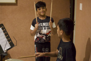 Drummin session at Trill Route Music Academy