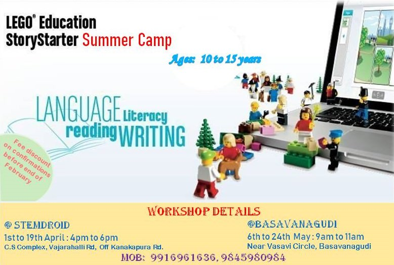 Story Building & Creative Writing Camp 2019 Cover Image