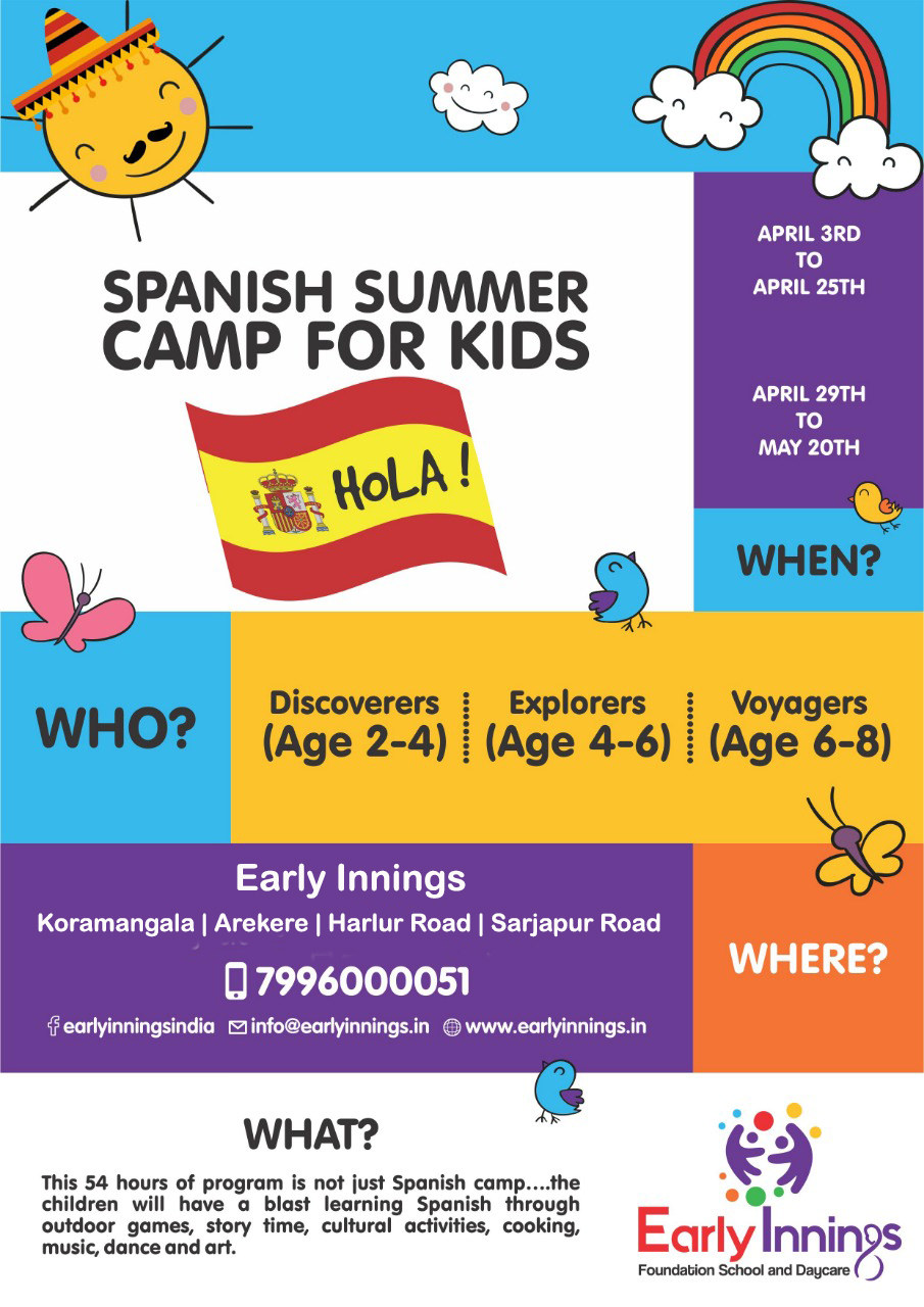 Spanish Summer Camp For Kids 2019 Cover Image