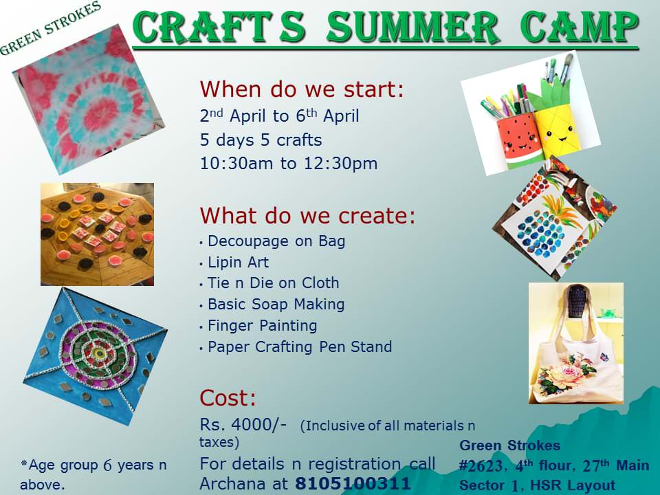 Crafts Summer Camp Cover Image