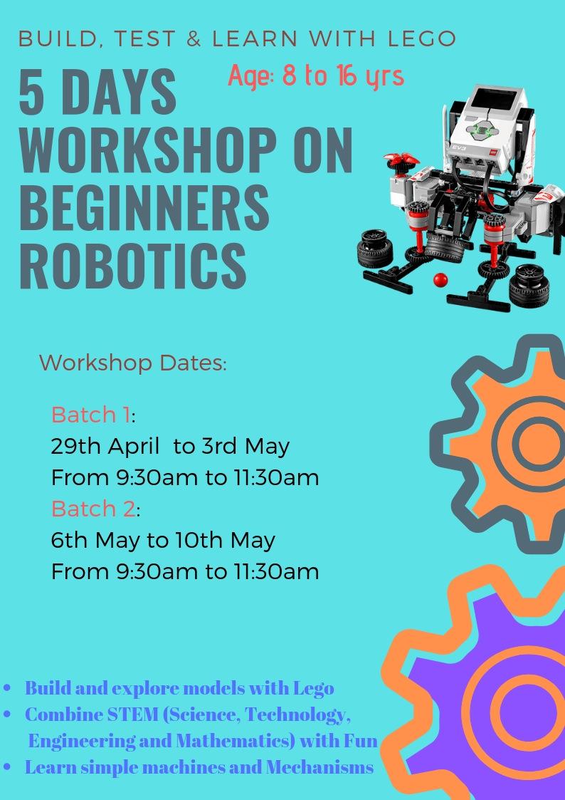 Beginners Robotics Workshop 2019 Cover Image