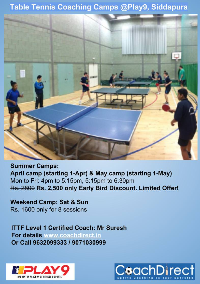 Table Tennis Summer Camp 2019 Cover Image