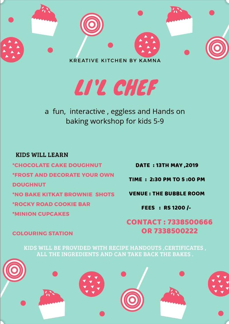 Li'l Chef Baking Workshop 2019 Cover Image