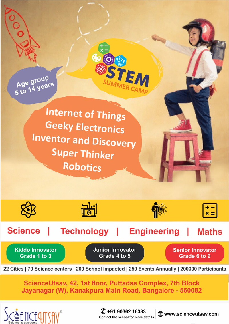 ScienceUtsav's STEM Summer Camp 2019 Cover Image