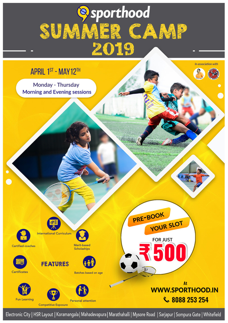 Sporthood Football & Badminton Summer Camp 2019 Cover Image