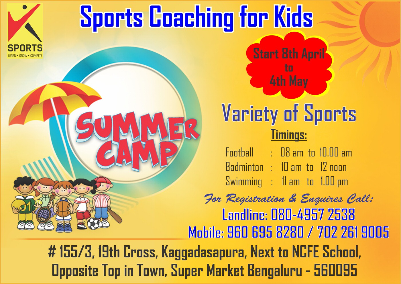 Sports Coaching For Kids 2019 Cover Image