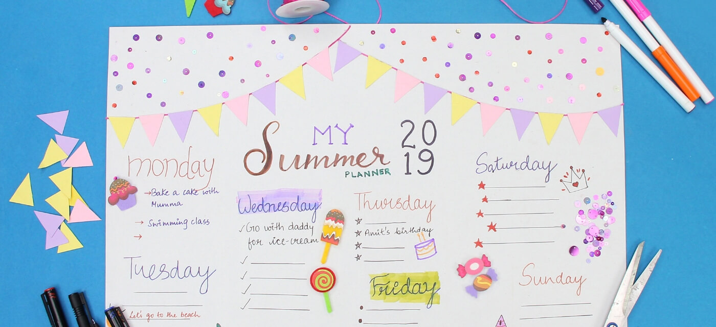 Get creative these holidays with this DIY Summer Planner! Cover Image