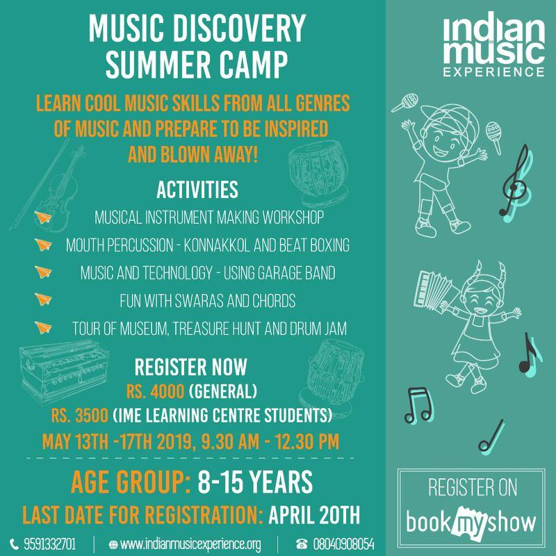 IME Music Discovery Summer Camp 2019 Cover Image