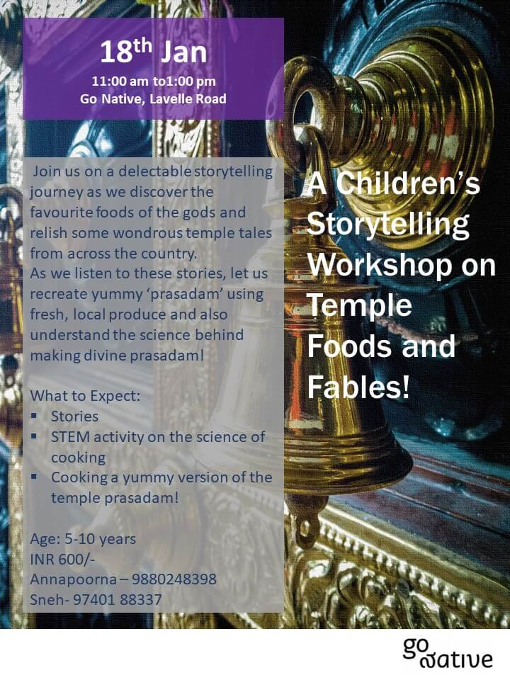 Temple Fables and Food! A storytelling and activity workshop Cover Image