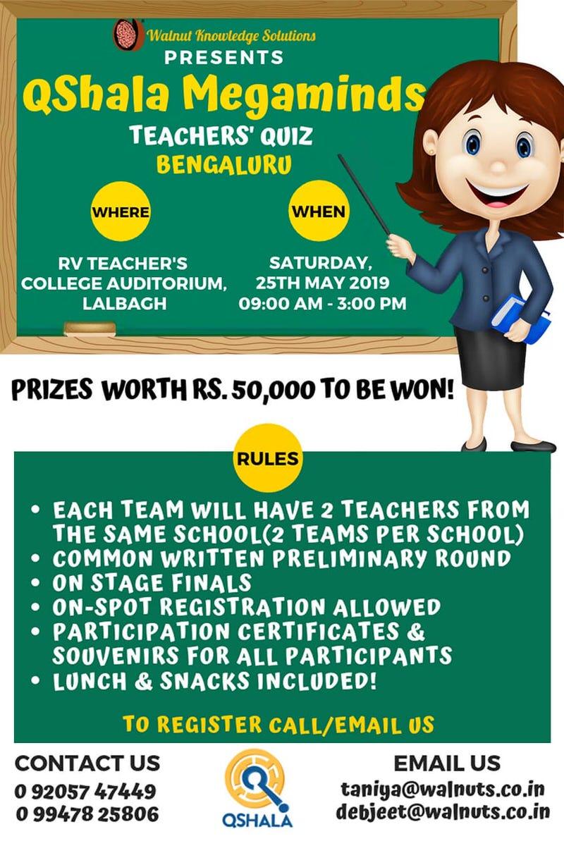 QShala Megaminds – Teachers Quiz Cover Image