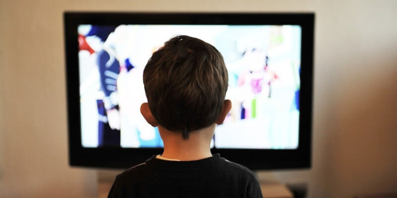 Kid Watching Television