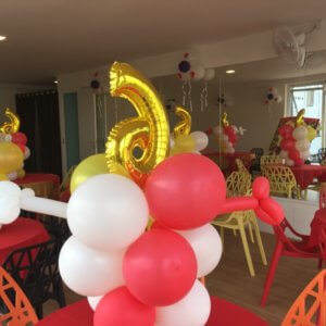 Tumble Town Birthday Party decoration
