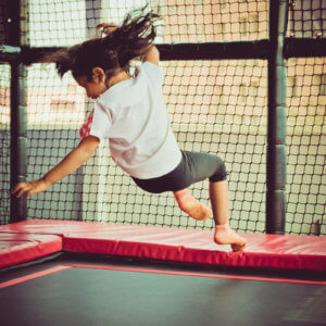 Trampoline fun at Tumble Town