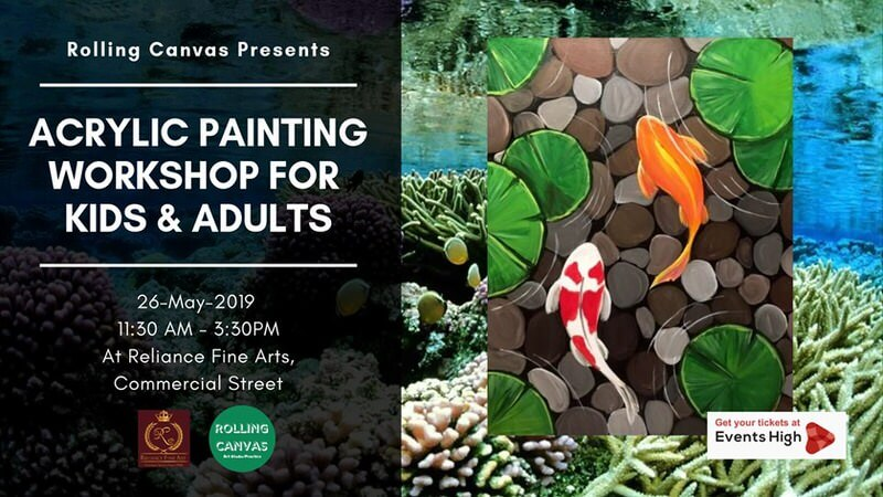 Acrylic Painting Workshop for Kids & Adults Cover Image