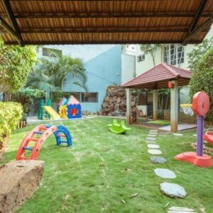 Outdoor playspace for kids at GlownGlitter Montessori