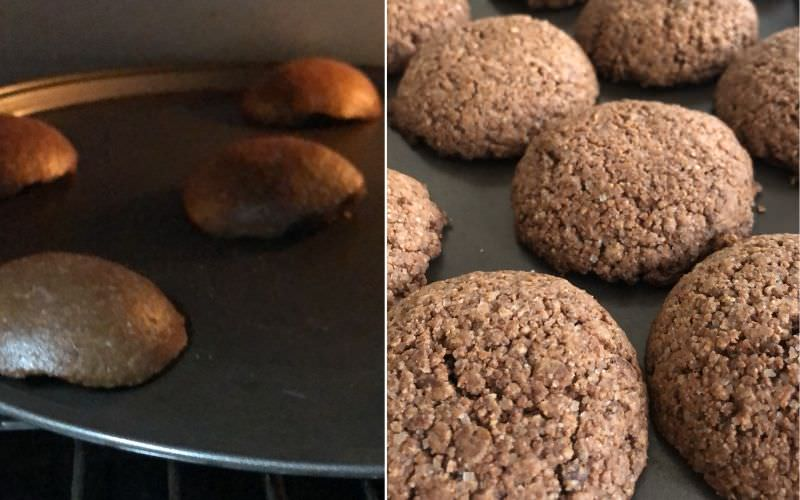 Chocolate Almond Cookies are ready!