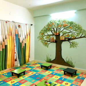 Art room at Small World Preschool