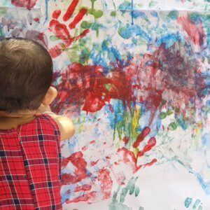 Finger Paint creations by children