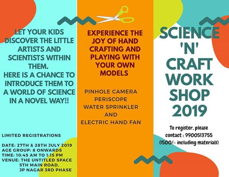 Science N Craft Workshop 2019 Cover Image