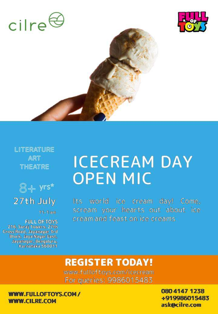 Ice Cream Open Mic Day Cover Image