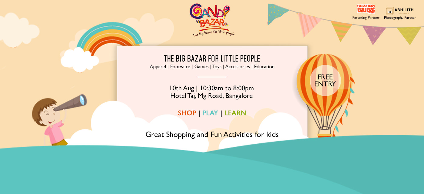 Shop, Learn and Play at Candy Bazar! Cover Image