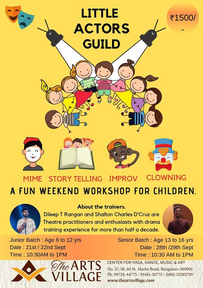 Weekend Drama Workshop for Children Cover Image