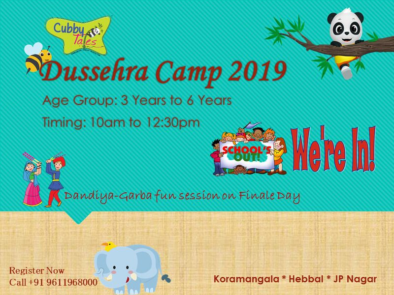 Cubby Tales Dussehra Camp 2019 Cover Image
