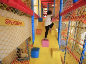 Obstacle course at Happy Kydz