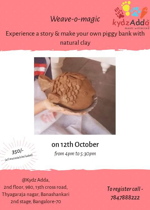 Clay Piggy Bank & Story Telling Session Cover Image