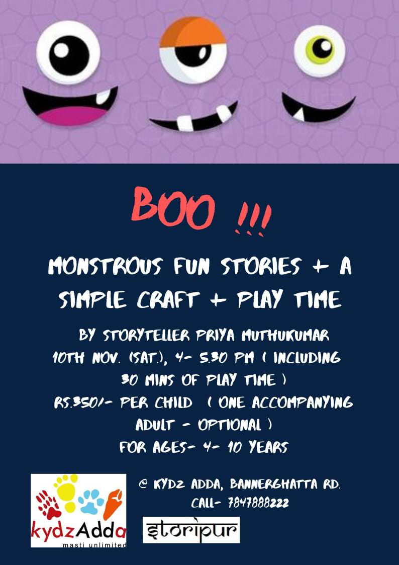 Boo!!! A Fun Story Telling Session Cover Image