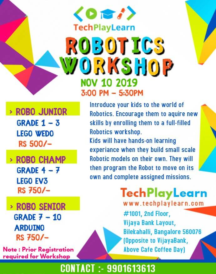 Robotics Workshop at TechPlayLearn Cover Image