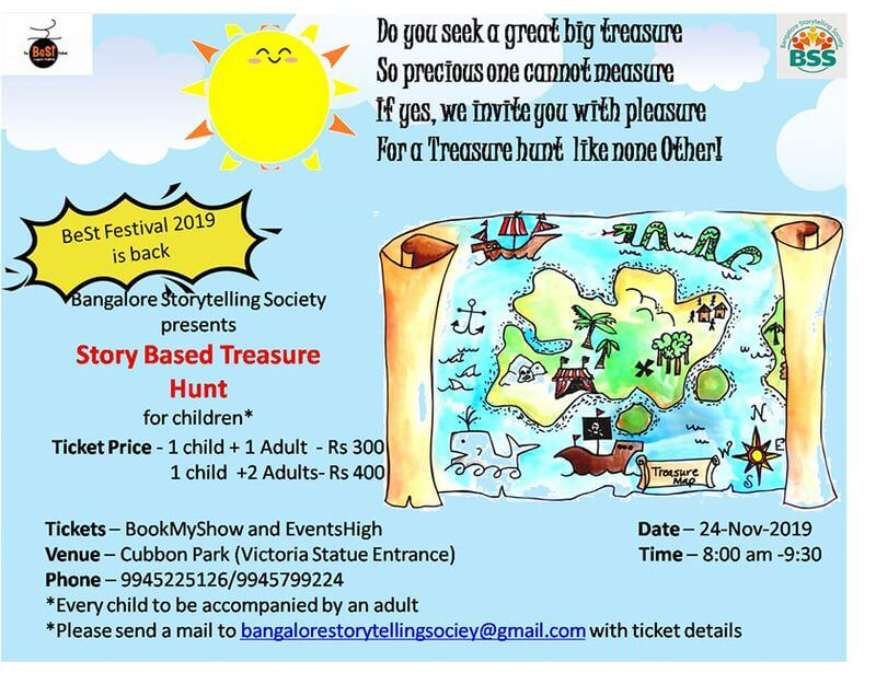 Story Based Treasure Hunt, BeSt Festival 2019, Bangalore