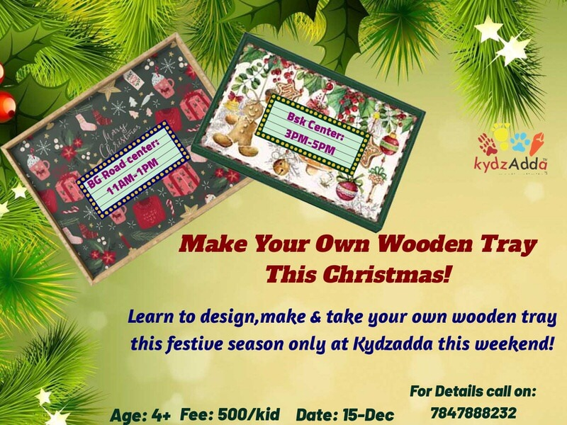 DIY Christmas Wooden Tray Workshop Cover Image