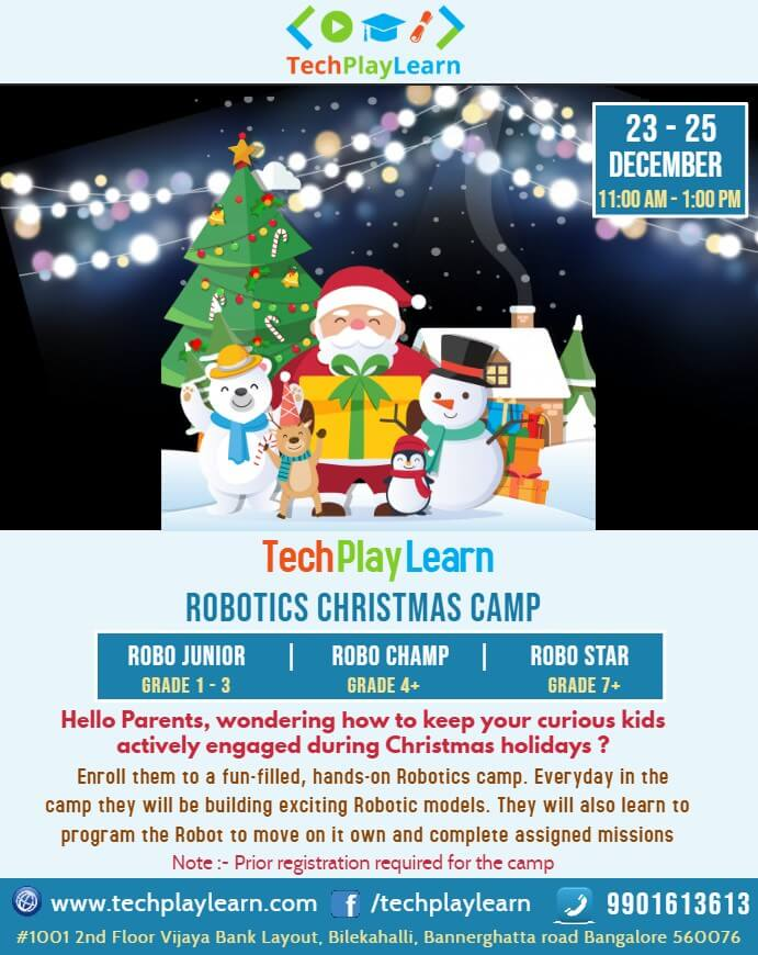 TechPlayLearn Robotics Christmas Camp Cover Image