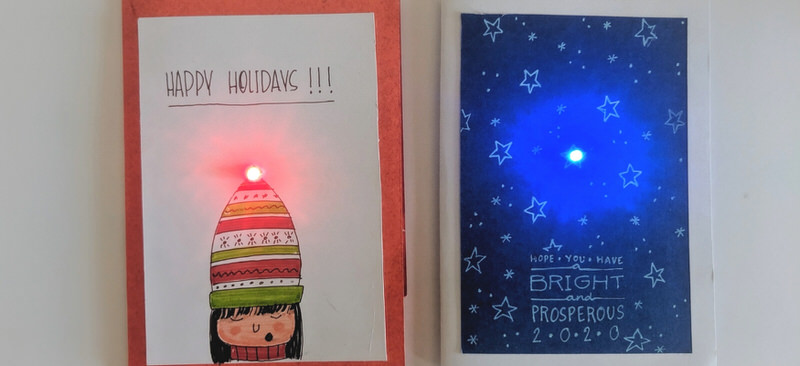DIY Light Up Christmas Card Cover Image