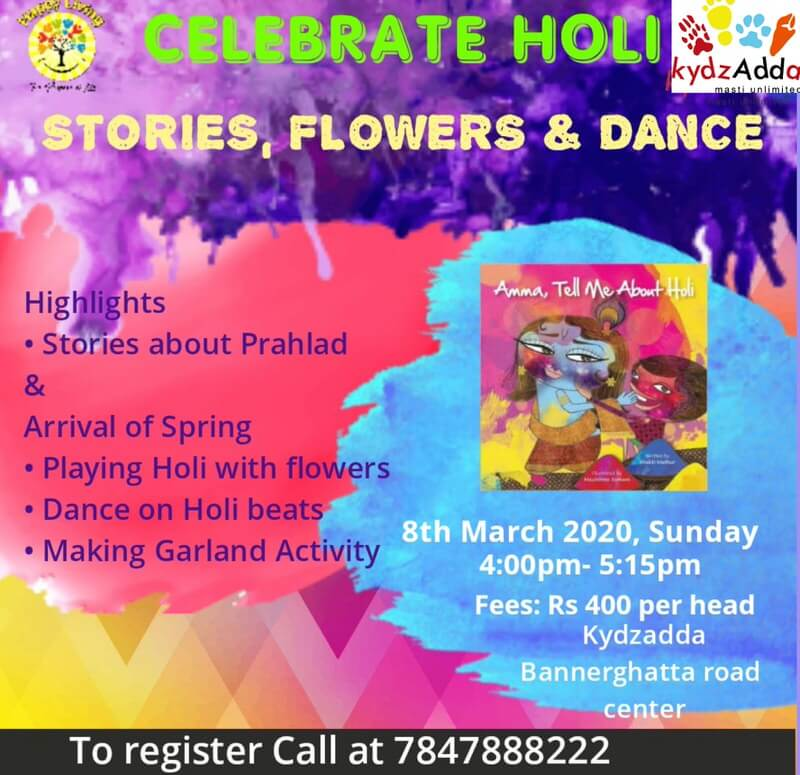 Celebrate Holi with Stories, Flowers & Dance Cover Image