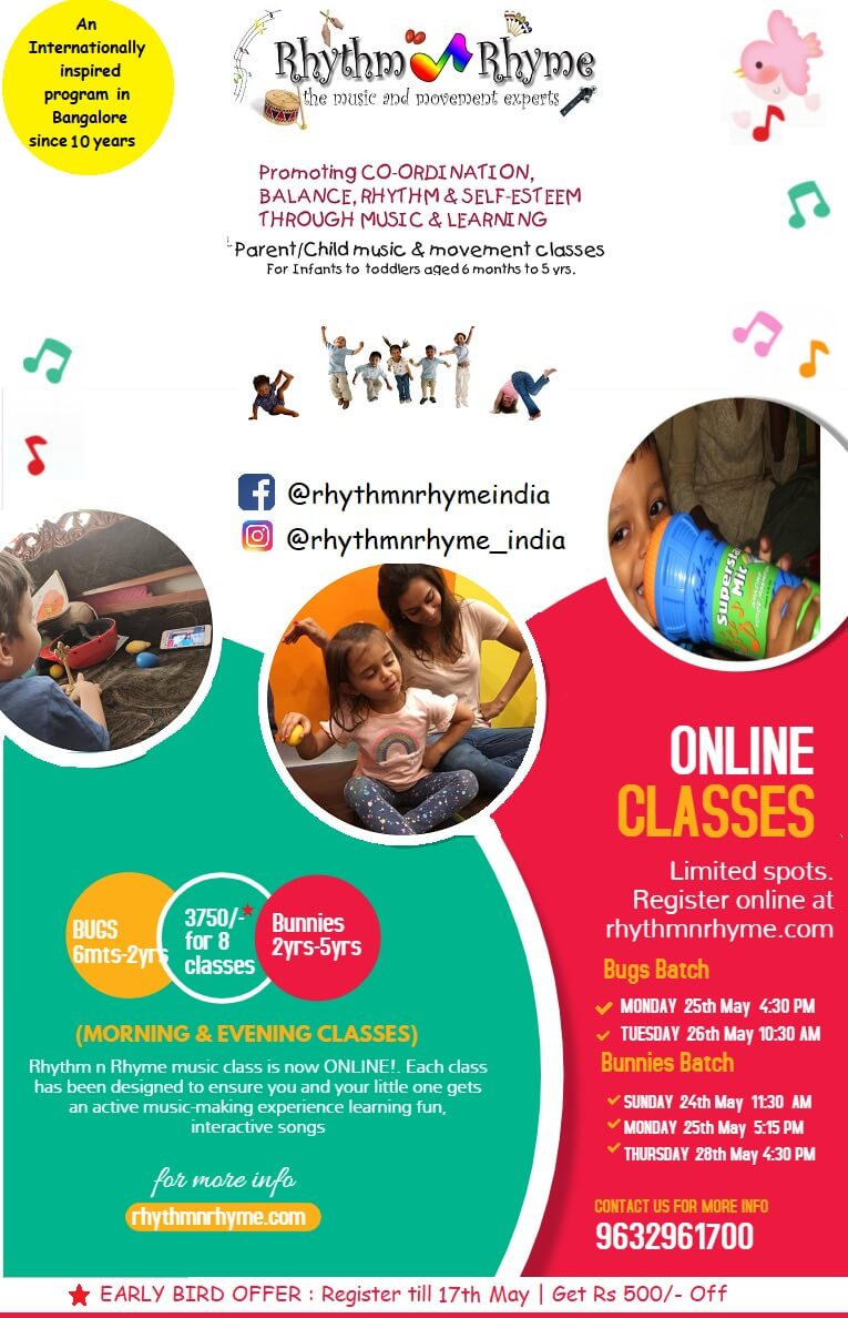 RhythmnRhyme Parent Child Music & Movement Online Class Cover Image