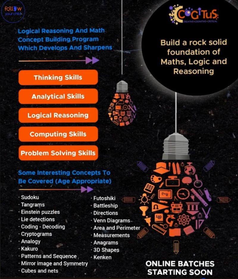 Logical Reasoning & Math Concept Building Program Cover Image