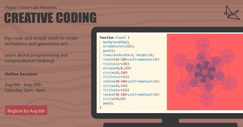Creative Coding Online Workshop Cover Image