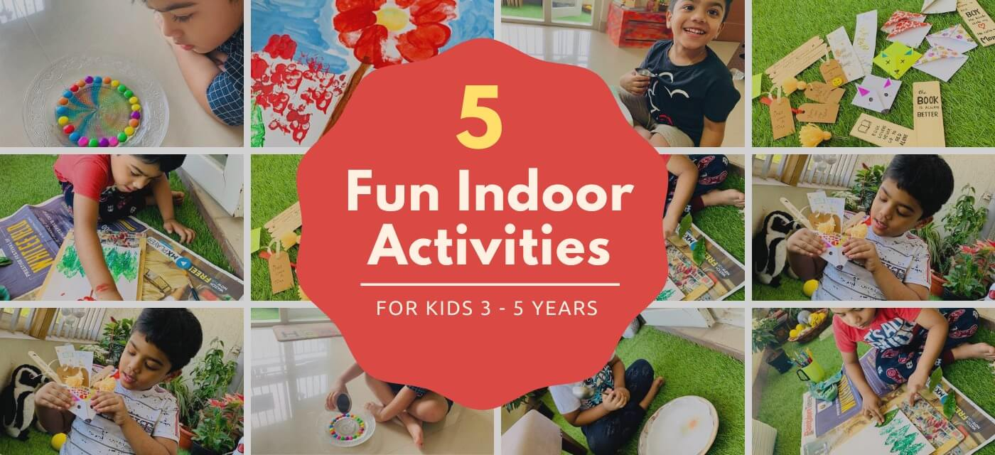 5 Fun Indoor Activities for 3 to 5 years olds Cover Image
