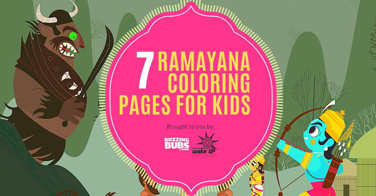7 Ramayana colouring pages for kids you can download now! Cover Image