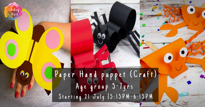 Paper Hand Puppet Craft Workshop for Kids Cover Image